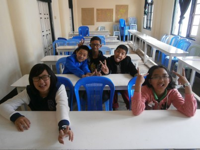 My new Level 6 students (in wacky faces) for this 1st semester but not yet complete (4)
