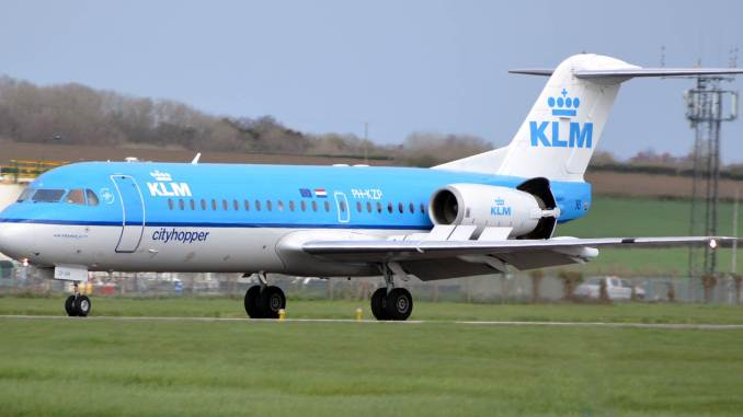 KLM Fokker PH-KZP at Cardiff Airport (Picture Credit: Nick Harding)