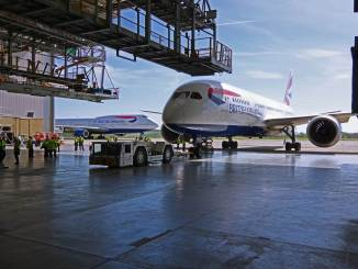 British Airways Boeing 787 at BAMC