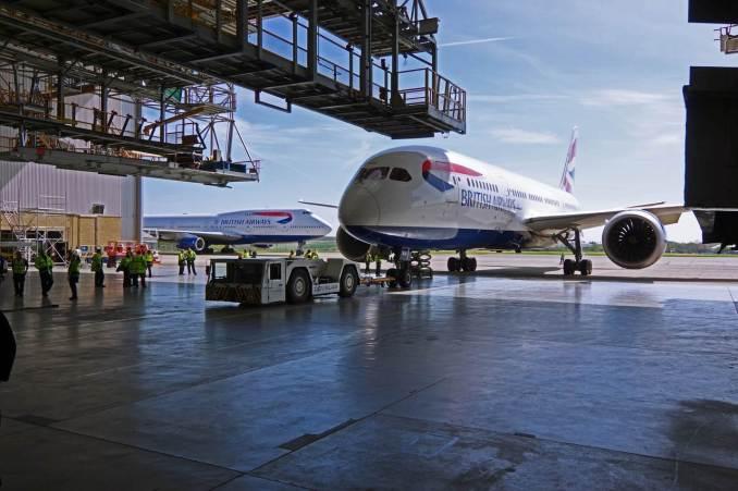 British Airways Boeing 787 at BAMC
