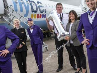 Flybe's 1st Birthday at Cardiff Airport (Image: Cardiff Airport/Flybe)