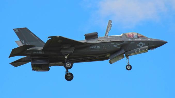 F-35B Lihgtning II at Farnborough (Image: Nick Harding/Aviation Wales)