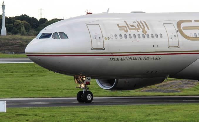 Etihad A330 (Image: Nick Harding/Aviation Wales)