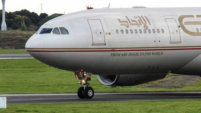 Etihad A330 (Image: Nick Harding/Aviation Wales)