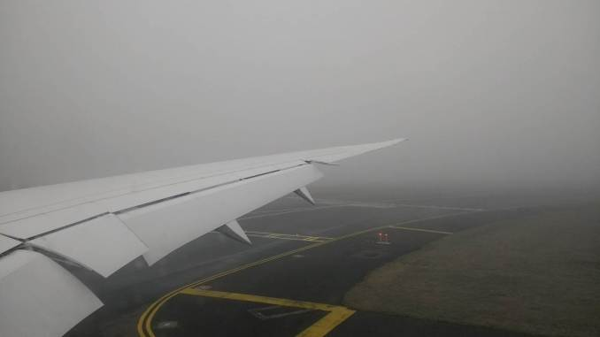 Runway in the fog (Image: Aviation Wales)