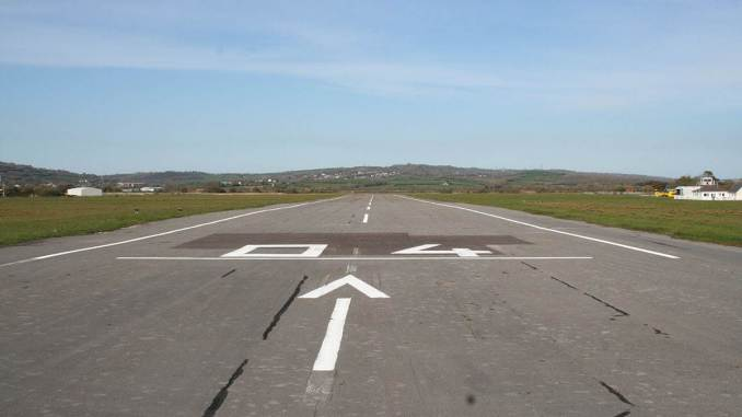 Pembrey Airport runway (Image: Winston Thomas / Pembrey Airport)