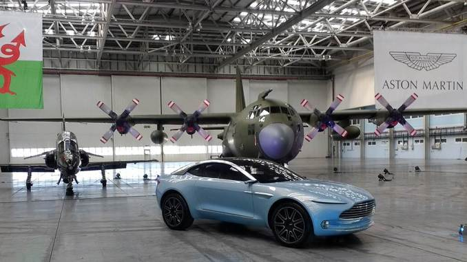 Aston Martin DBX Concept in the Superhangar at St Athan (Image: Aviation Wales)