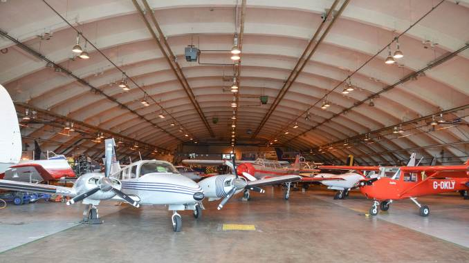Horizon hangar full of a variety of aircraft (Image: Aviation Wales)