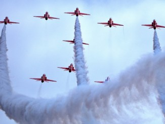 The Red Arrows at Barry Island (Image: Philip Dawson)