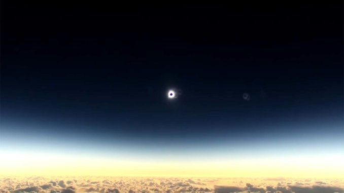 Solar Eclipse (Image: Alaska Airlines)