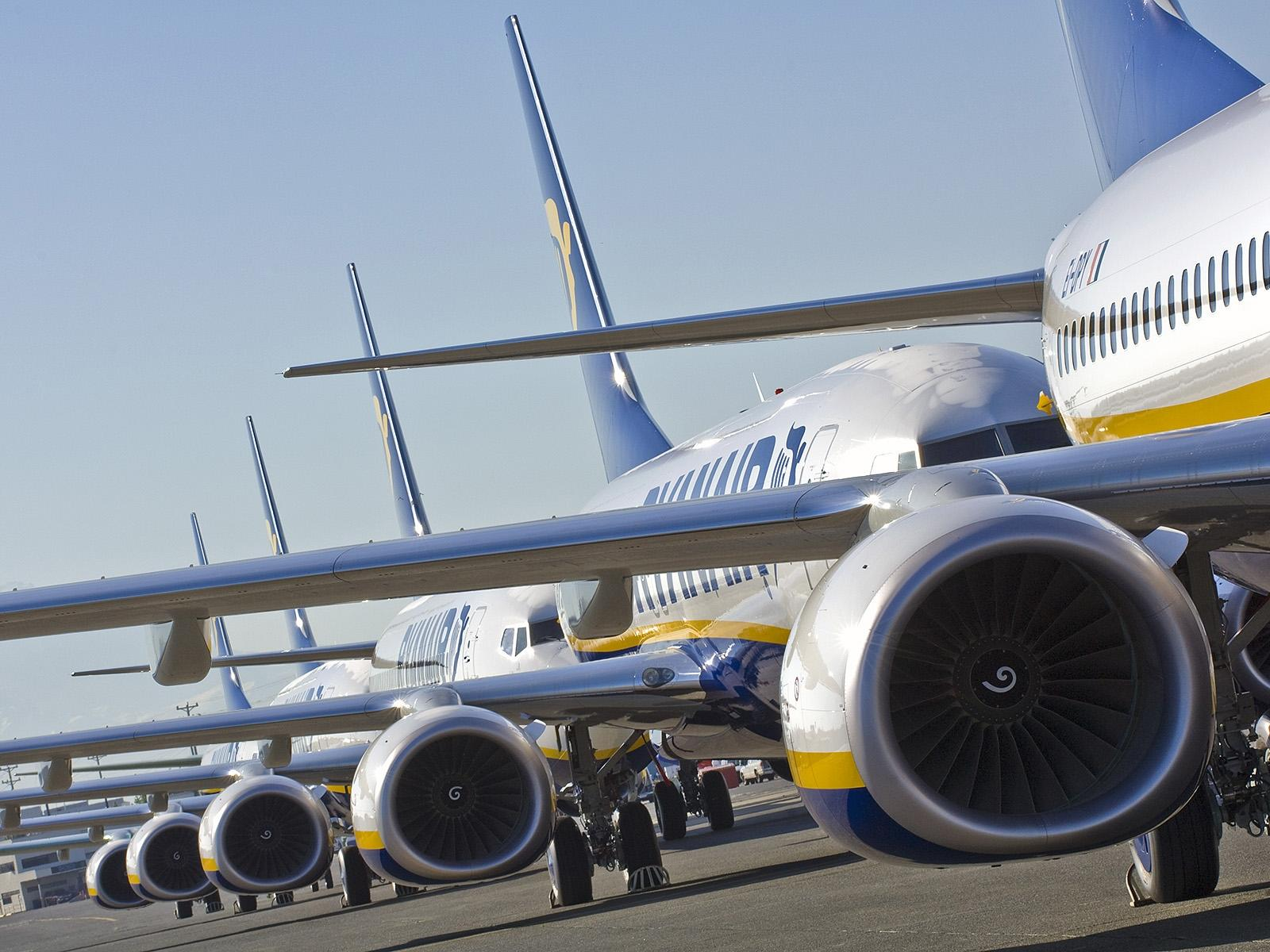 Ryanair pilots line out for strike action in front of headquarters
