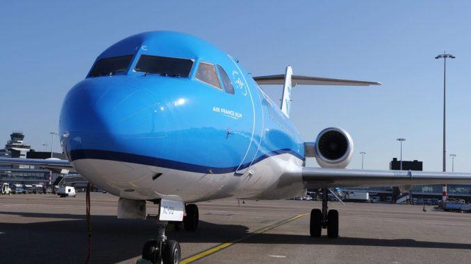 KLM carries out final fokker f70 flights