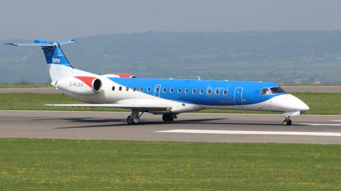 Plane leaves runway in at Bristol Airport