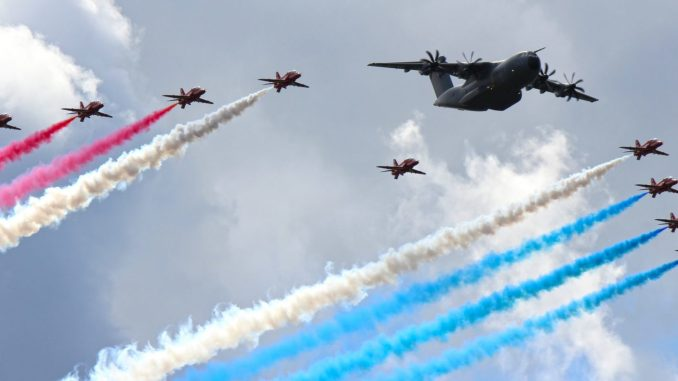 Red Arrows and Airbus A400M