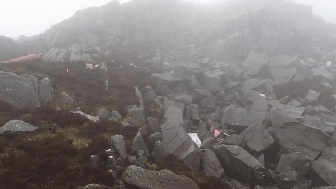 Rhinog Fawr crash site
