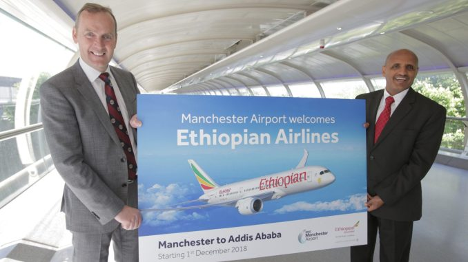 Manchester Airport welcomes Ethiopia Airlines
