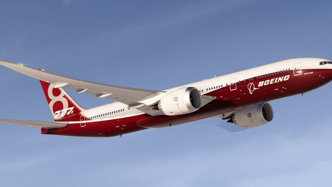 Boeing 777-8X (Image: Boeing)