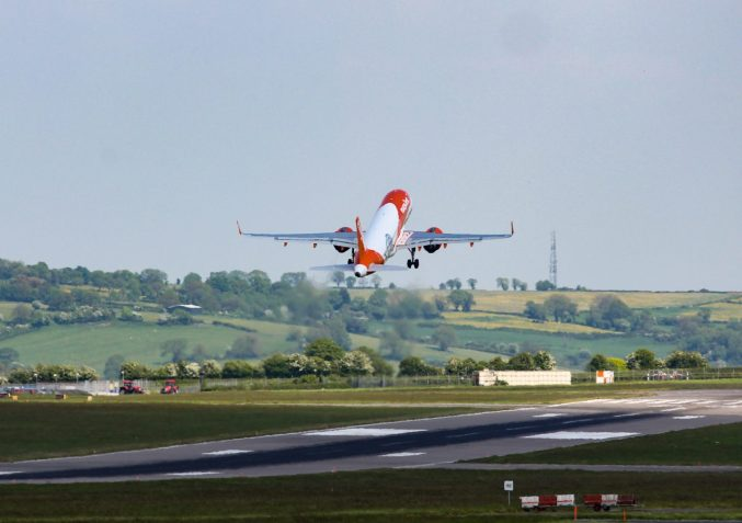 An Easyjet A320neo takes off from Bristol Airport (TransportMedia UK)