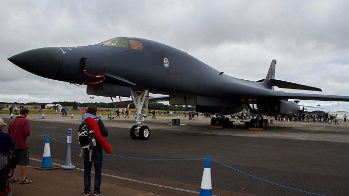 Rockwell B1-B Bomber at RAF Fairford (Image: P. Harrison)