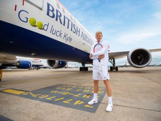 Good luck Kyle message from British Airways (Image: ba)