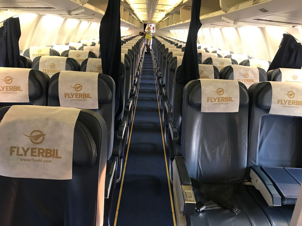 Inside Fly Erbil's 737 (Image: Fly Erbil)