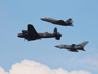617 Squadron Flypast (Image: John Moore)