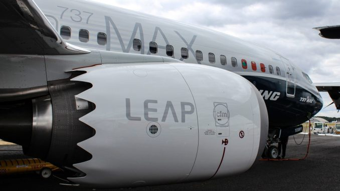 LEAP engines on a Boeing 737 Max (Image: Nick Harding/TransportMedia UK)