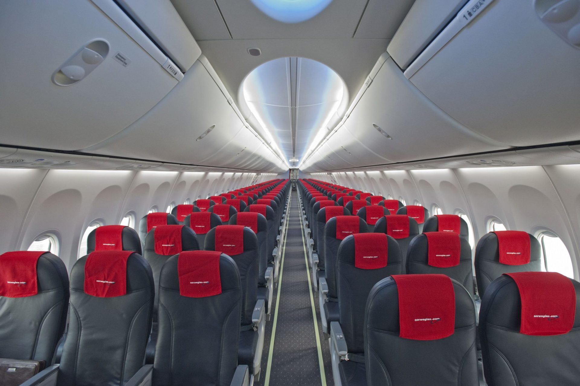 Norwegian Boeing 737 with Sky Interior (Image: Kevin Yoo/Boeing)