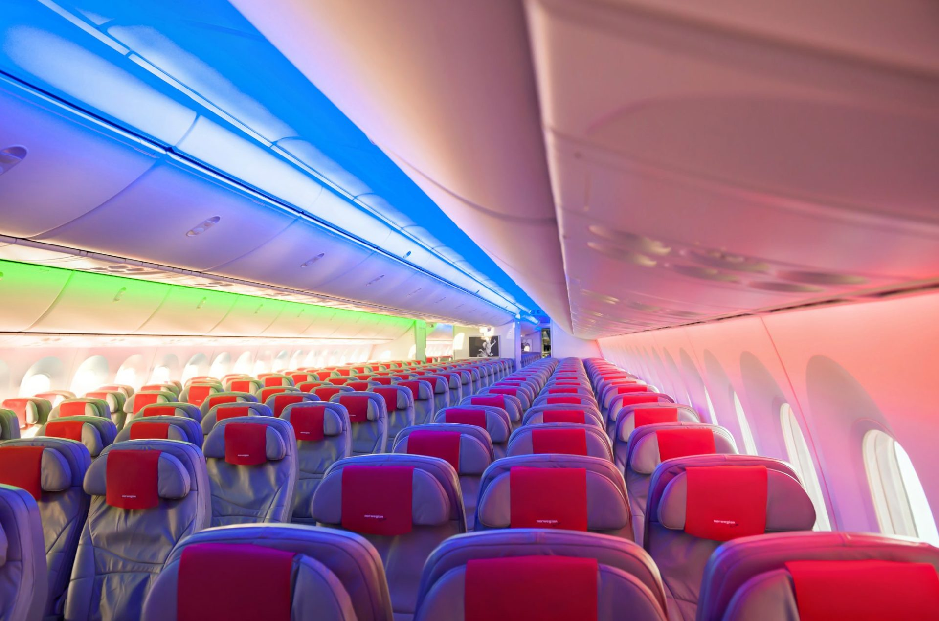 Norwegian Boeing 787 Dreamliner Interior