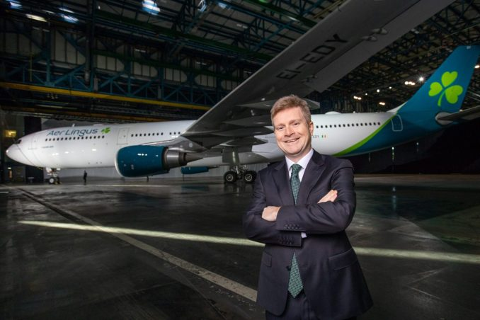 New Aer Lingus livery on an Airbus A330