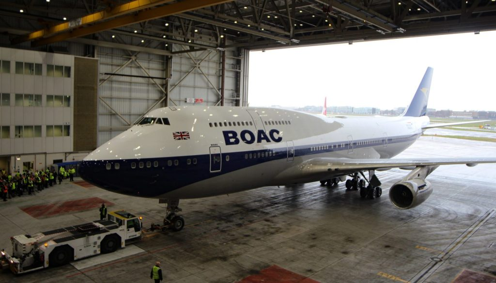 Into the hangar she goes to be prepared for her first flight to JFK (Image: Aviation Media Co.)