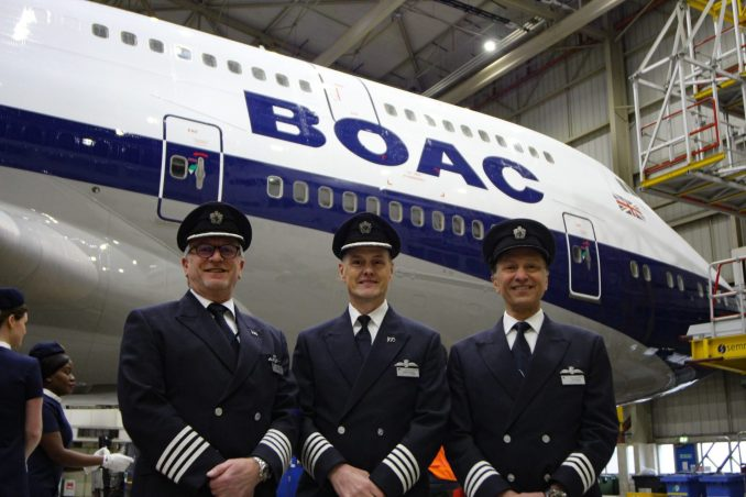 BA100 flight crew (Image: Aviation Media Co.)