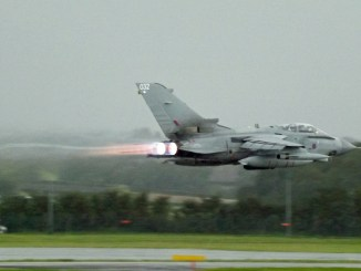 RAF Tornado at Cardiff Airport (Image: Aviation Media Co.)