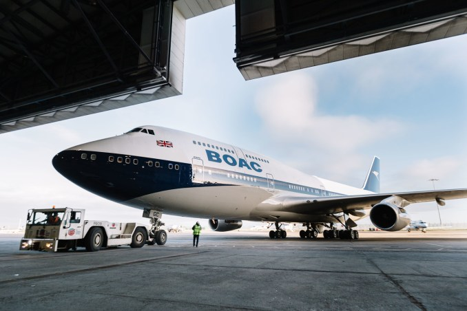 British Airways - BOAC 747 Leaves the paint shop in Dublin (Image: Stuart Bailey/British Airways