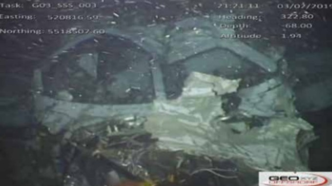The front section of N264DB on the seabed (Image: AAIB)