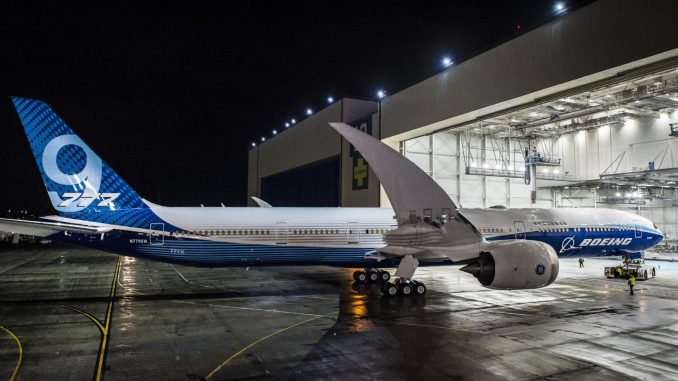 The Boeing 777X (Image: Boeing)
