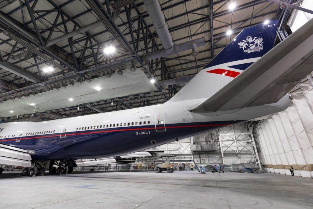 Landor G-BNLY in the Hangar (Image: British Airways)