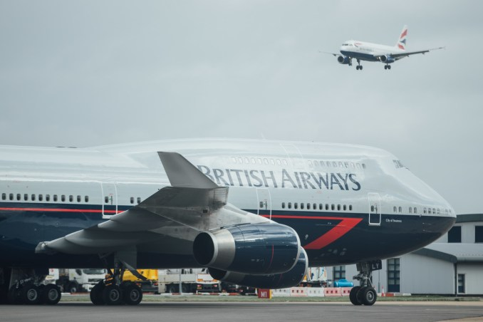 British Airways 747 in Landor livery arrives at London Heathrow on 09 March 2019.  (Picture by Nick Morrish/British Airways)