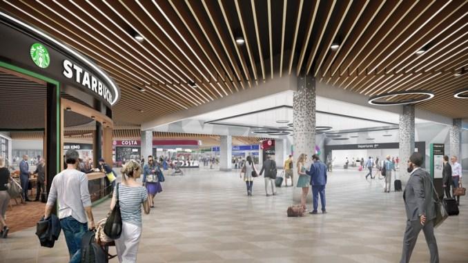 Luton Airport - Rendering of new departure area