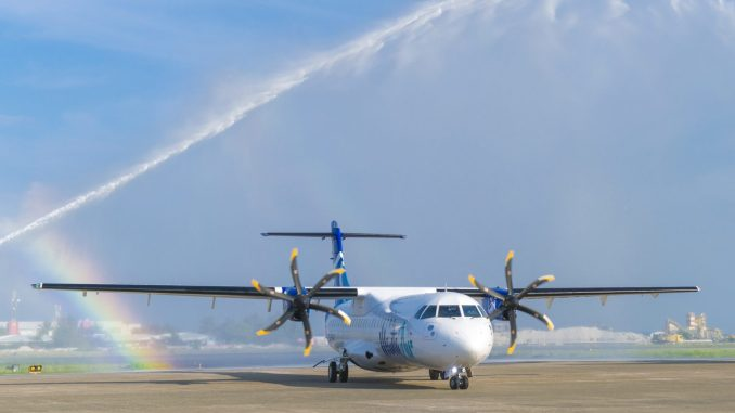 Manta Air operate a pair of ATR600's in the Maldives