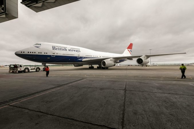 Boeing 747-400 G-CIVB leaves the paintshop in Dublin (Image: Stuart Bailey/British Airways)