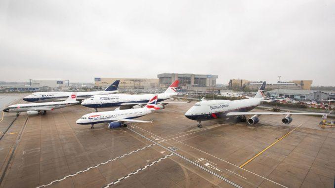 BA100 Aircraft line up at Heathrow (Image: BA)