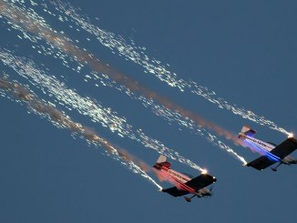 The Fireflies will do a night time display at Wales National Airshow