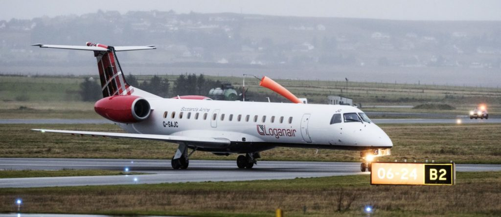 Loganair Embraer 145 G-SAJC