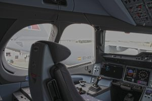 Captains seat of an Airbus A350-1000 (Image: Aviation Media Agency)