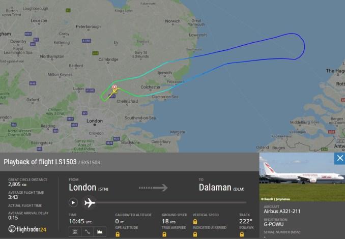 Track of Flight LS1503