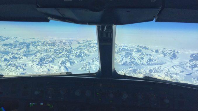 Simon Rockett– Greenland From The Flightdeck