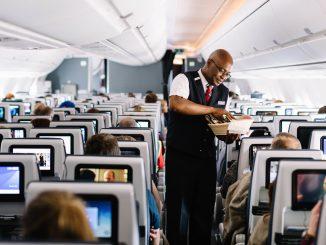 Practising service onboard British Airways A350XWB G-XWBA (Image: Stuart Bailey/BA)