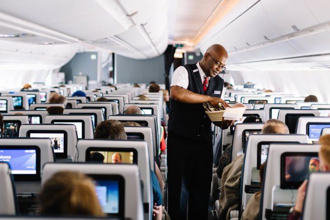 Practising service onboard British Airways A350XWB G-XWBA (Image: Stuart Bailey)