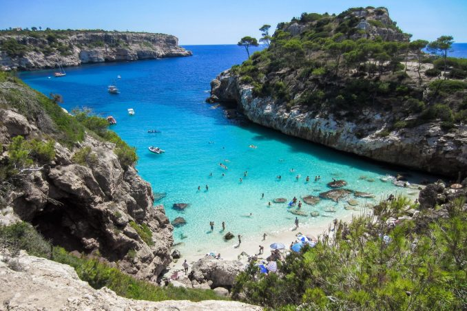 A sheltered cove on Mallorca
